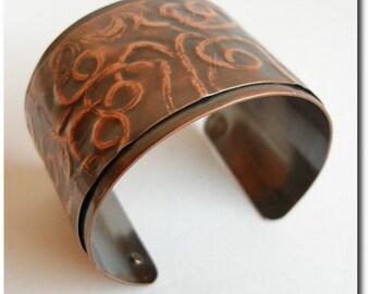 Copper Swirl Print Cuff Bracelet