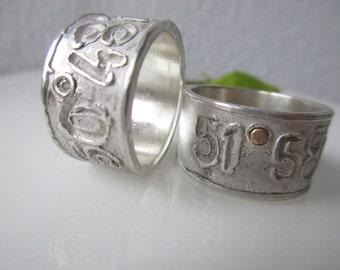 WEDDINGBAND WEDDINGRINGS SET Engagemantrings Engraving