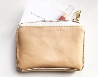Leather pouch / Wallet / Leather pocket / Léonny Cha