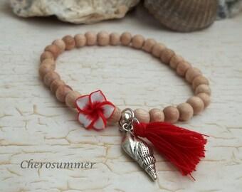"Summer bracelet ""Hawaii"" Red"