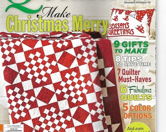 American Patchwork & Quilting Magazine December 2014 #131 - Christmas - Gift Ideas - New