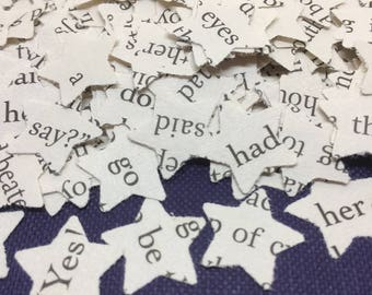STAR | Wedding | CONFETTI | Book Page | Decorations | STARS | Table Scatters | Party | Paper | Craft Embellishments | Photo Prop | Scrapbook