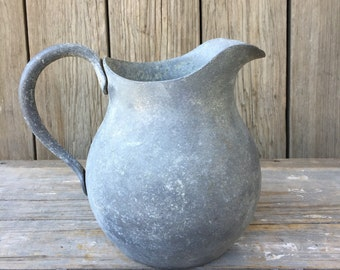 Vintage aluminum water pitcher, wagner sidney o