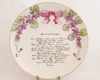The Lords Prayer Decorative Hanging Plate