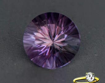 Round Concave Cut Amethyst - Select your size