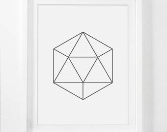 Geometric Poster, Printable Geometric Art, Poster Prints, Graphic Poster, Poster Geometric, Digital Abstract Art, Downloadable Wall Prints