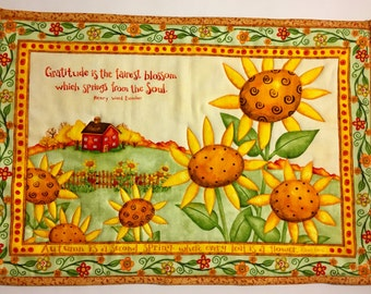 Sunflower Placemats Etsy