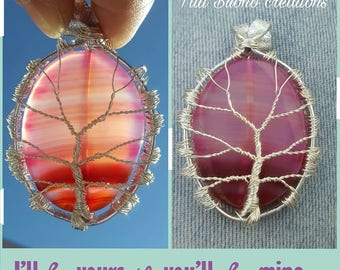 Necklace with pendant tree of life/tree of life