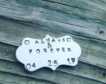 Hand stamped wedding favors personalized charms-hand stamped charm wedding jewelry hand stamped jewelry stamping blank mothers day gift mom