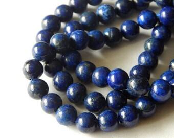 8mm Lapis Lazuli Round Beads