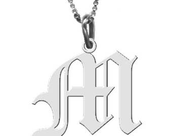 Sterling Silver Handmade Initial Pendant ANY Letter of your choice