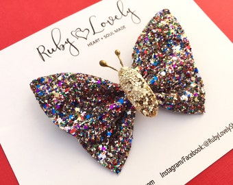 Butterfly Bow, Butterfly Hair Clip, Glitter Clips, Butterfly Clips, Glitter Bows, Butterfly Headbands, Glitter Bows, Butterfly Headband