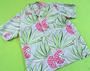 Great Hawaiian Rockabilly Hula Aloha Reproduction Shirt Sun Surf Japan LARGE