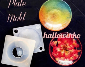 Silicone Mold Mould - Small Plate Mold- Decoden Clay UV Resin Reusable DIY Cabochon