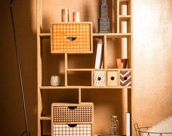 Design bookcase wood patterns
