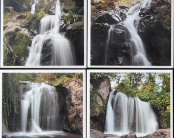 Set of 4 waterfall themed coasters