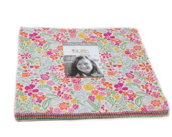 "Early Bird Layer Cake by Kate Spain for Moda, 42 - 10"" squares"