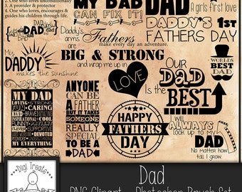 50% OFF~Dad word art. quotes and phrases. scrapbooking, card making & photo overlay word art. INSTANT DOWNLOAD
