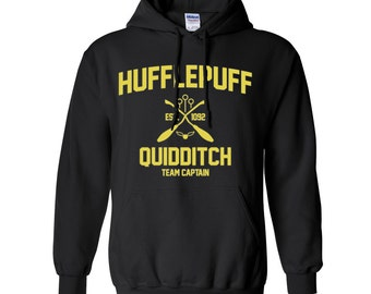 Harry Potter Sweatshirt Hufflepuff Sweatshirt Harry Potter Hufflepuff Quidditch Hogwarts Hoodie Sweater Sweatshirt Crewneck Apparel Unisex