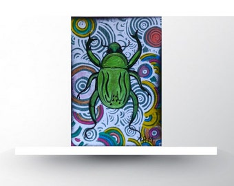 ACEO Insects Original ACEO Collectible Insect painting Limited Edition Miniature art Insects ATC