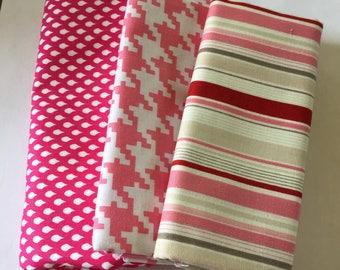 Quarter of a Yard Fabric Bundle  3 pieces