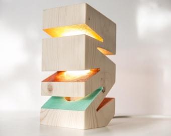 Wooden Desk Lamp, Natural Wood Lamps, Modern Design Lamps, Lighting, Modern Lamps, Lampshades, Night Lights, SUNRISE