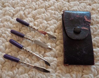 Collectible Miniature Manicure Kit from Germany (#0769)