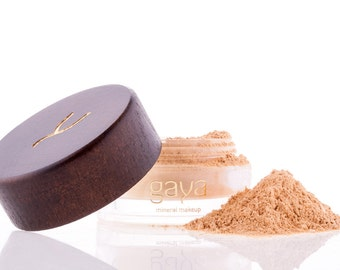 Mineral Foundation (MF2 Shade) Vegan Makeup Powder, Unique 4 IN 1, 100% Natural Multipurpose Full Coverage For All Skin Types
