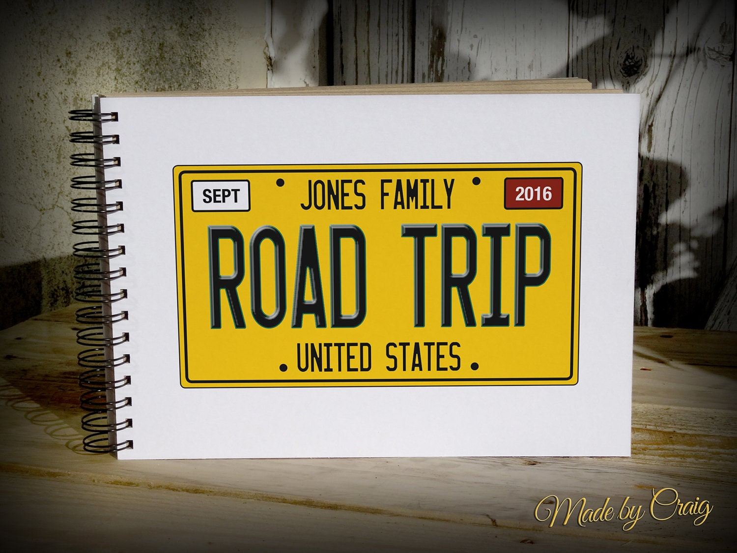 How to scrapbook a road trip - Sold By Madebycraig