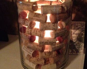 Wine cork lantern