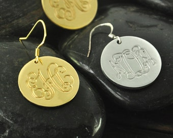 Custom Alloy Earrings initials Pendant Earrings special gift for your love unique gift