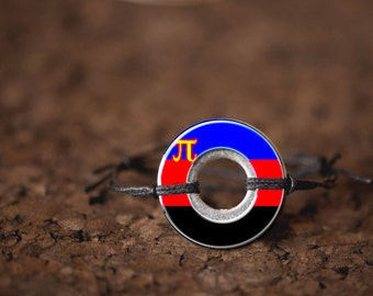 Polyamory Resin Coated Washer Bracelet