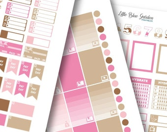 Lil' Flag Color Medley: Neopolitan Planner Stickers -Instant Download, printable sticker kit, eclp stickers