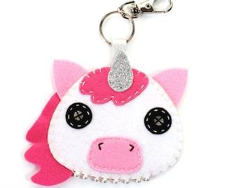 Unicorn Bag Tag, Unicorn gift, Gifts for Her, Cute Luggage Tags, Pink Unicorn, Unicorn Accessories, Cute Gifts, Kawaii Unicorn