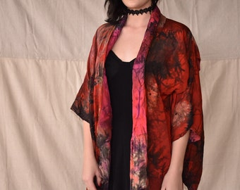Red tye dyed robe
