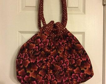 Fall Leaf Purse, Maroon Leaf Purse, Purse for Fall, Fall Fashion, Shoulder Bag, Autumn Purse, Autumn Tote Bag, Fall Tote