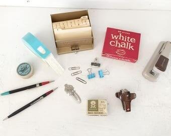 century office equipment. mid century office supply lotretro suppliestypewriter correction tapeindustrial stapler equipment