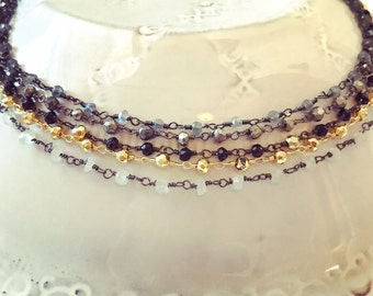 """14"""" Beaded Choker Necklaces"""