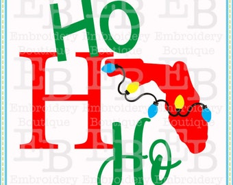 Ho Ho Ho Florida SVG - This design is to be used on an electronic cutting machine. Instant Download