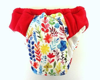 Girls overnight heavy wetter potty training pants, Eco reusable pull ups, waterproof flowers PUL print, absorbent pants, special need undies