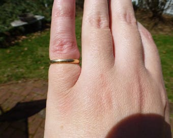 Darling Antique 14k Yellow Gold Edwardian Wedding Band Ring, Size 4, Charming Antique Circa 1910s, Must See!