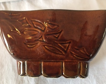 Vintage USA Pottery Asian Design Planter