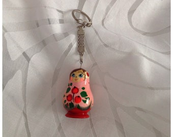 Vintage Wooden Russian Doll Matryoshka Key Holder