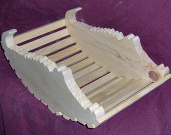 Wooden Alligator Basket / Planter by the Old Coot