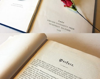 Wordsworth Poetical Works Blue Hardback Gift Book 1930s Poems Ballads Poetry