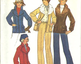 Simplicity 7193    Misses Jacket with Detachable Collar and Pants    Size 10, 12