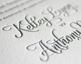 Letterpress Wedding Invitation, Wedding Invitations, Letterpress Wedding Invitations, Elegant Wedding Invitation, Sample Pack