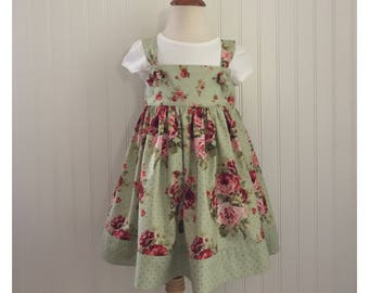 Girls dress Girls knot dress Girls size 4 Girls Spring dress Girls Summer dress