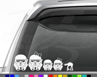 Death Trooper family decal window sticker