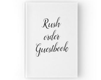 Rush Order Wedding Guest Book. Personalized Guestbook. Last Minute. Custom Guest Book